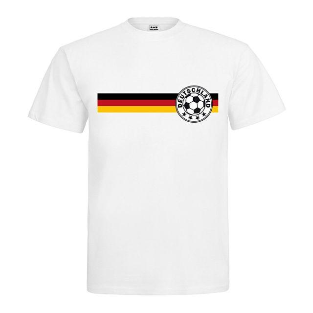 O Neck Sunlight Men T Shirt T Shirt Footballer Logo On German Flag