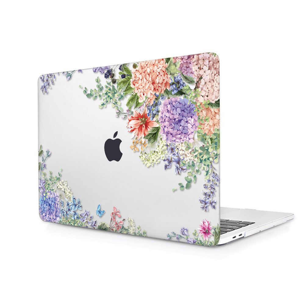 Floral Printing Hard Case for MacBook 138