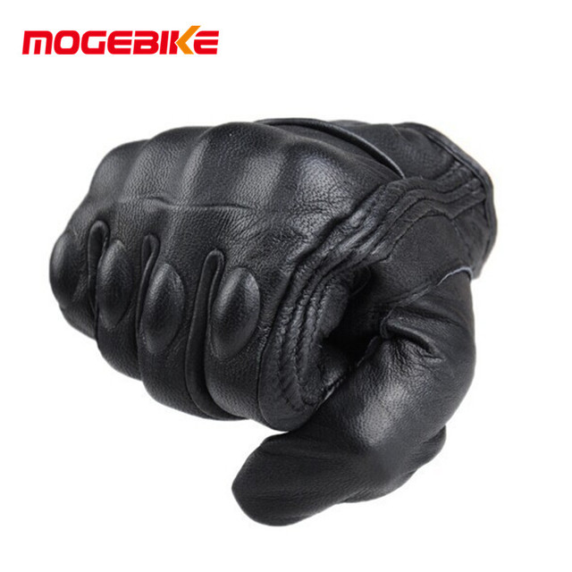 Retro Pursuit Perforated Real Leather Motorcycle Gloves Moto Waterproof Gloves Motorcycle Protective Gears Motocross Gloves gift 4