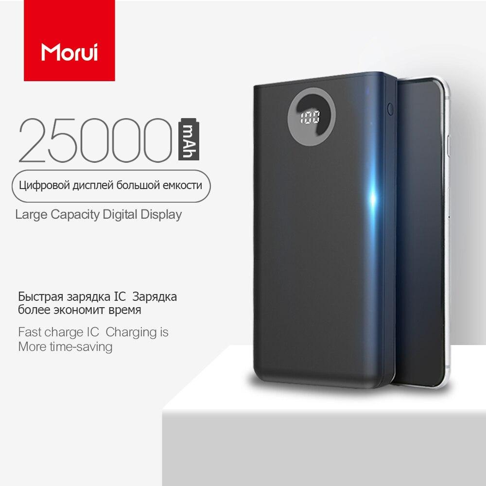 MORUI 25000 mah Power Bank PL25 Große Kapazität Mini Mobile Power Externe Batterie mit LED Smart Digital Display für Telefon tablet