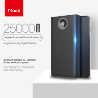 MORUI 25000mAh Power Bank PL25 Large Capacity Mini Mobile Power External Battery with LED Smart Digital Display for Phone Tablet