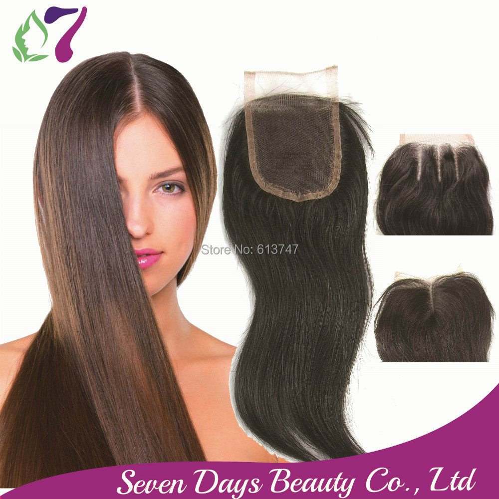 Where to buy hair closures - Aliexpress Com Buy 8a Free Shipping Brazilian Virgin 100 Human Hair Closures Straight Lace Closure Top 4 Middle 3 Way Part Bleached Knots 7 From