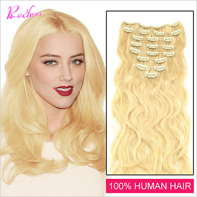 Aliexpress Buy 16 18 20 22 24 26 Inches White Blonde 60 7pcs