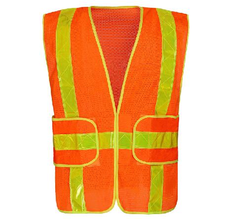 Construção da estrutura de tecido de malha de vestuário de segurança refletivo colete de segurança no trânsito noite trabalho V82927