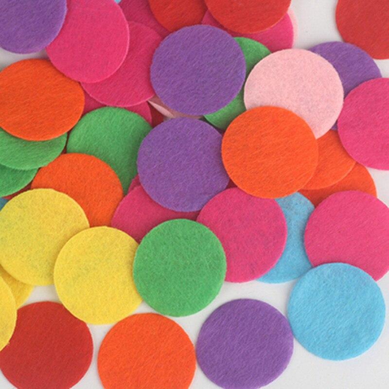 Круглый фетр тканевые подкладки экологичный патч высечки круг фетр коврик для ткани Цветочная резинка для волос аксессуары DIY ручной работы записки