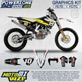 Customized Team Graphics Backgrounds Decals 3M Custom Stickers Kit For Husqvarna  2014 15 16 17 FE TE FC TC 250 350 450  500cc