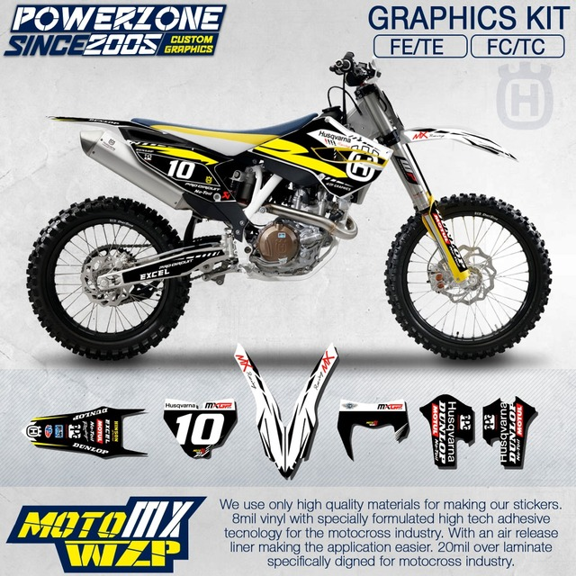 Customized team graphics backgrounds decals 3m custom stickers kit for husqvarna 2014 15 16 17 fe