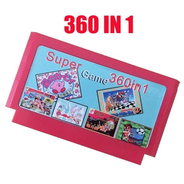 Vente chaude 8 cartouche de jeu peu meilleur cadeau pour enfants ---------- 360 en 1