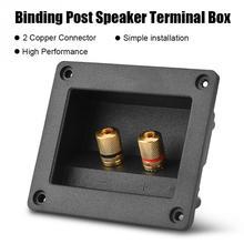 Componentes acústicos para HiFi Speaker 2 Cobre Binding Post Terminal Conector do Cabo Caixa de Shell
