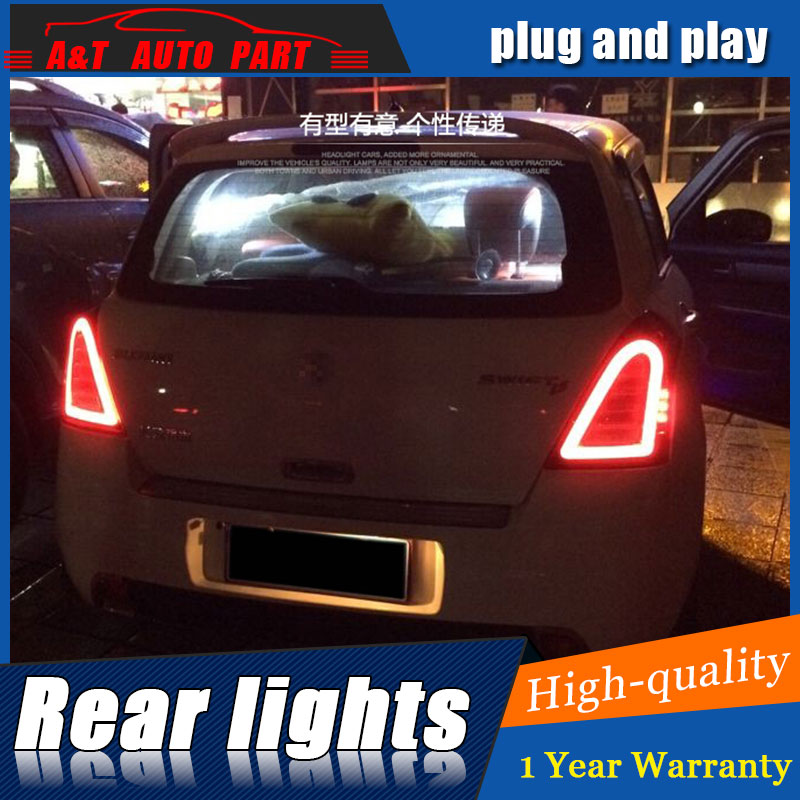 Car Styling LED Tail Lamp for Suzuki Swift Taillights 2005-2014 Swift Rear Light DRL+Turn Signal+Brake+Reverse auto Accessories rear brake light tail light stop light taillight warning light lamp for suzuki swift 2005 2016