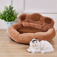 2019 New Pet Cat House Sofas Washable Small Dogs Warm Kennel Dog Bed Cute Slipper Design Princess Nest