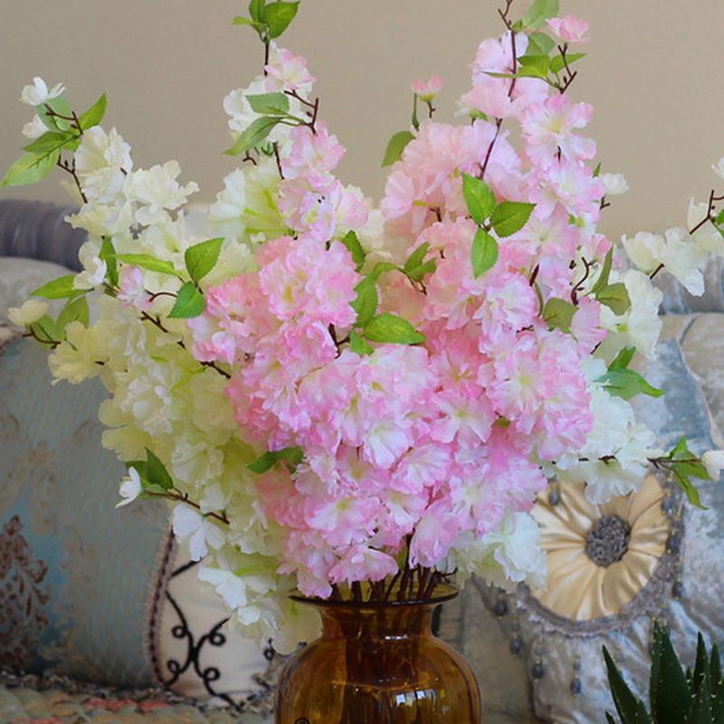 romantique fleurs artificielles silk vivid cerise blossom party decor fleur de pche maison de mariage dcoratif - Bon De Reduction Decoration De Mariage