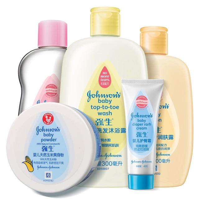 Criança infantil conjunto de cuidados da pele shampoo loção gel de banho  produtos de higiene pessoal b37f2b06e87ea