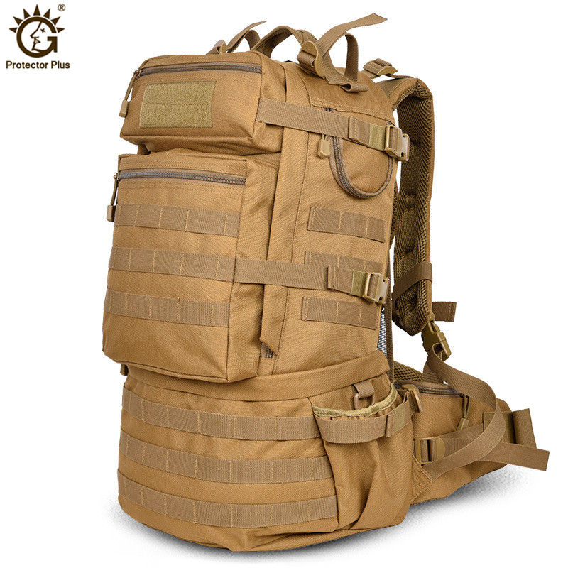 Outdoor Military Army 50L Tactical Backpack Large capacity Camping Trekking Hiking Rucksack Travel Backpack bolso militar