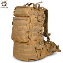 d047e0fd98ae2 في الهواء الطلق العسكرية الجيش 50L التكتيكية على ظهره التخييم الإرتحال حقيبة  كبيرة قدرة التنزه الظهر حقيبة السفر الرجال حقيبة