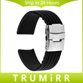 17mm 18mm 19mm 20mm 21mm 22mm Silicone Rubber Watch Band for Timex Weekender Expedition Men Women Wrist Strap Safety Buckle Belt