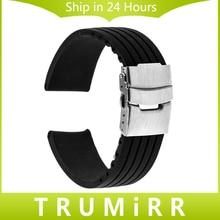 17mm 18mm 19mm 20mm 21mm 22mm Caucho de Silicona Watch Band para timex expedition weekender hombres mujeres pulsera de la correa de seguridad hebilla cinturón