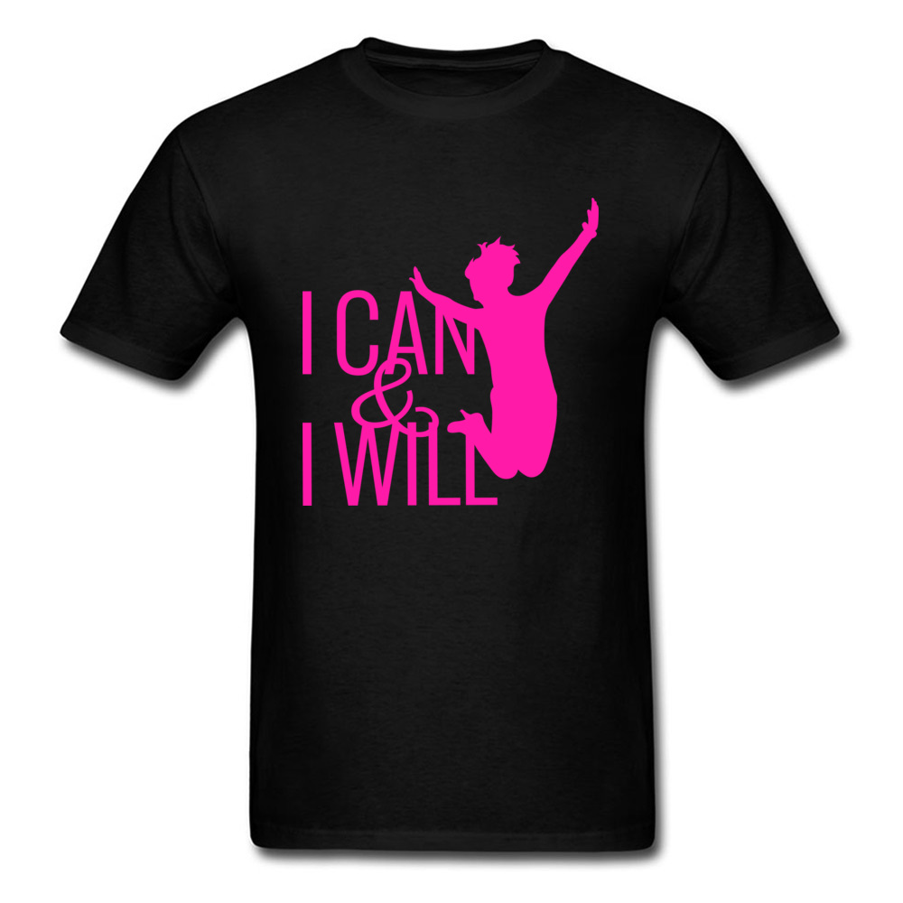 I Can I Will Win O-Neck T-Shirt Father Day Tops Shirts 2018 New Cotton Casual Tops Shirt Pink Graphic Custom Men Top Quality