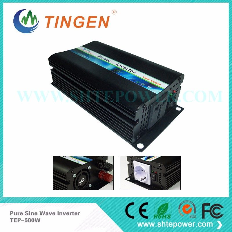 Factory sell 500W/1000w peak 12v/24v 230v inverter pure sine wave solar inverter