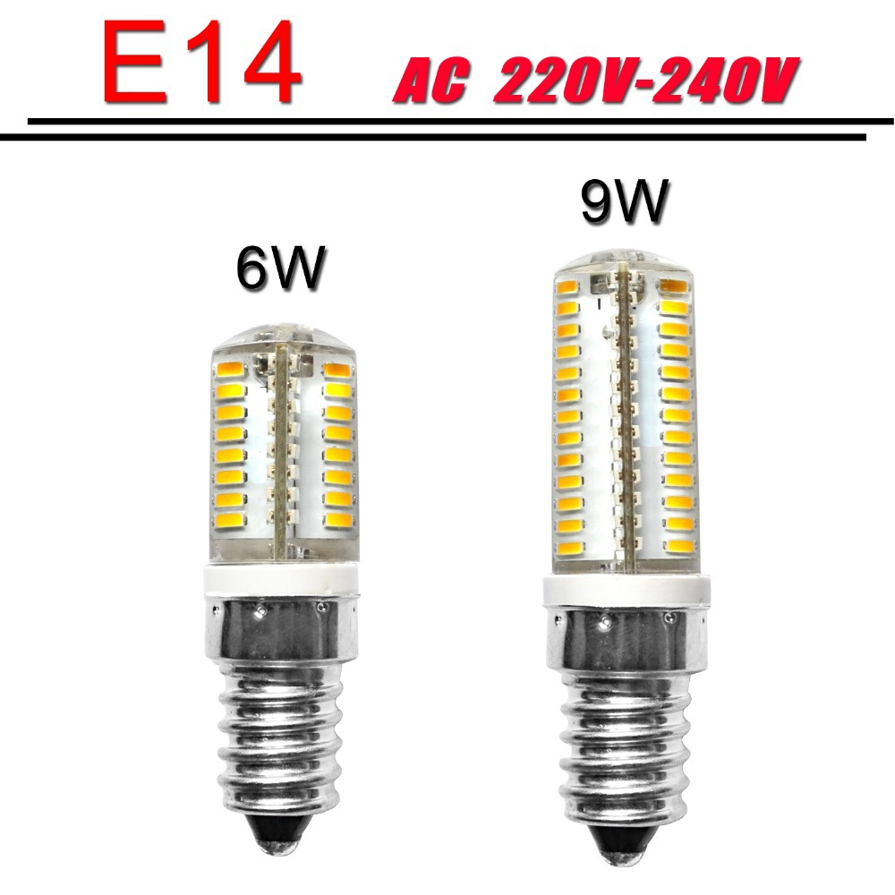 mini e14 led bulb 220v 6w 9w 610led smd 3014 silicone body light warm white Replace Halogen Lamp - ShenZhen Lighting World Co.,Ltd Store store