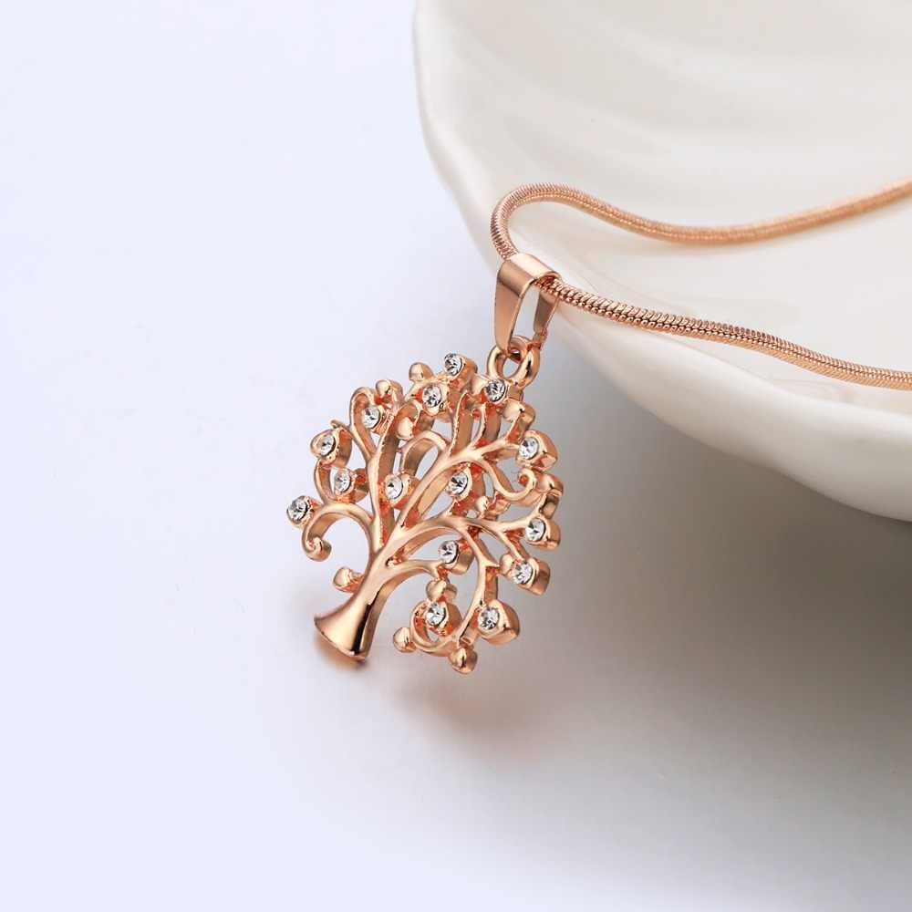 Tree Of Life Pendant Choker Necklace Women Jewelry Fashion 2018 Crystal Rose Gold Statement Necklaces & Pendants Christmas Gifts