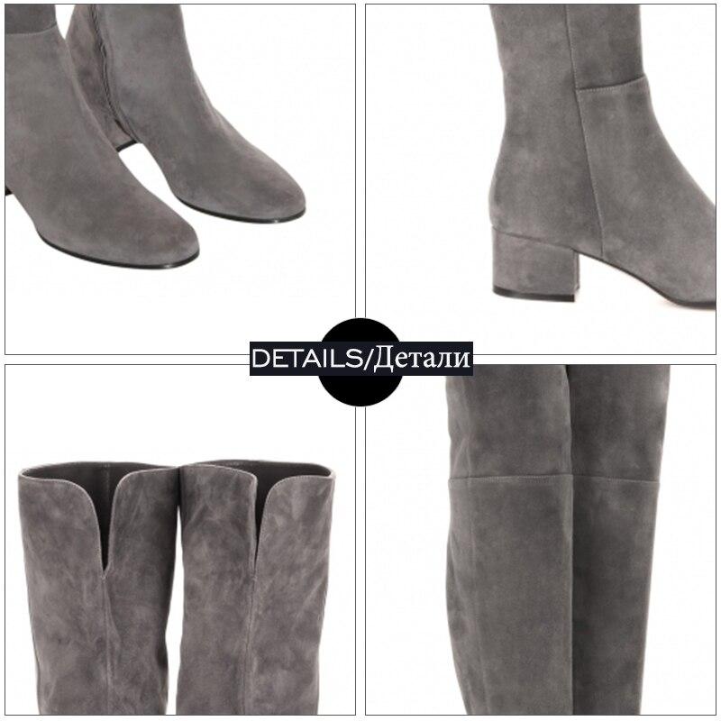 WETKISS Yeni Gələcək Diz Çəkməli Qadın Moda Qış - Qadın ayaqqabıları - Fotoqrafiya 3