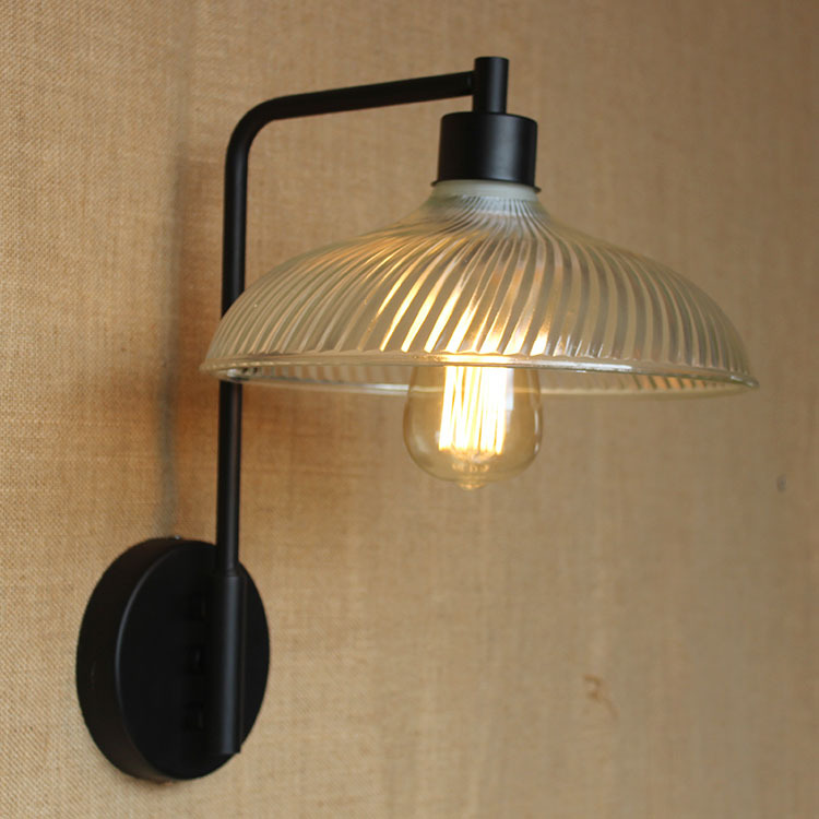 American Retro Village Wall Lamp E27 Holder Glass lampshade Crystal Bell Style Bedroom Bedside Lamp Balcony Corridor Lighting modern lamp trophy wall lamp wall lamp bed lighting bedside wall lamp
