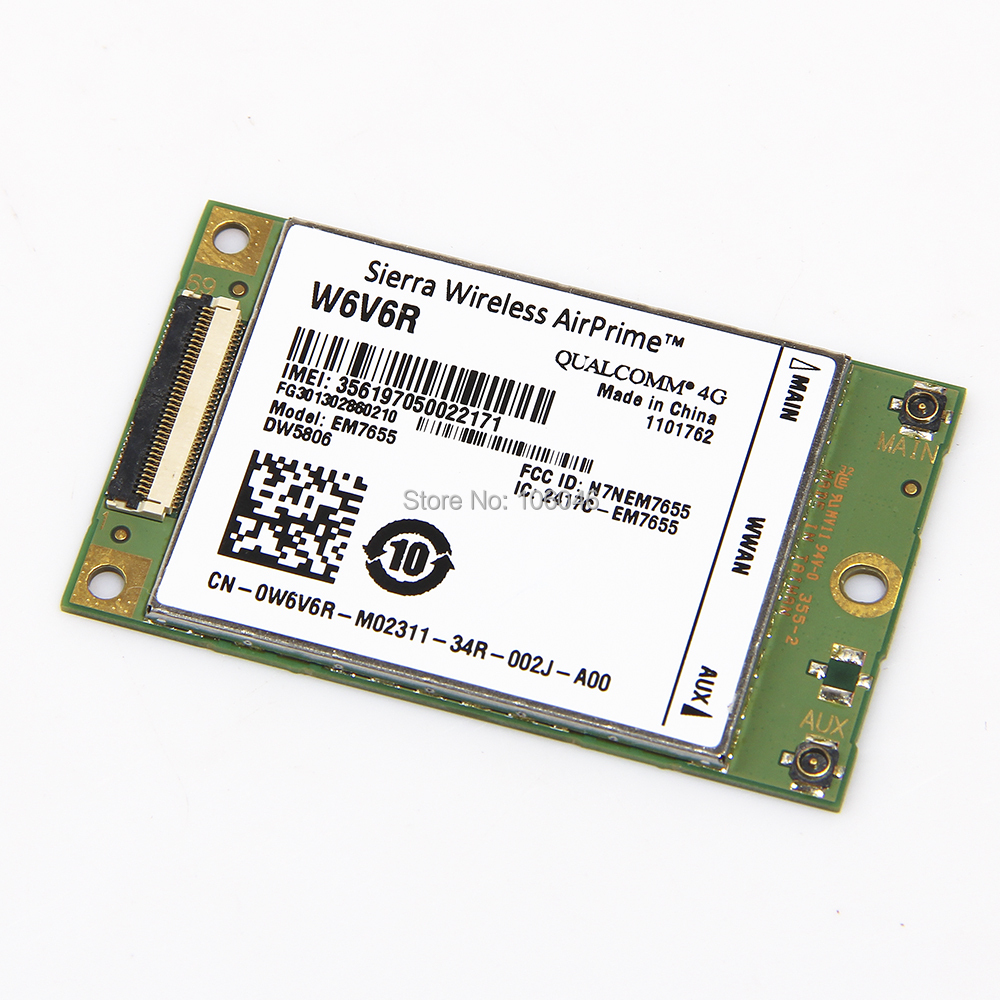 Brand New Unlocked Sierra EM7655 AT&T Radio Wireless 4G Module LTE WWAN Card W6V6R DW5806 for Dell free shipping telit ln930 dw5810e m 2 twh3n ngff 4g lte dc hspa wwan wireless network card for venue 11