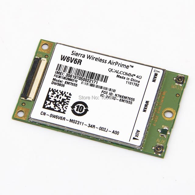Marca New Unlocked Sierra EM7655 at & t rádio módulo sem fio 4 G LTE placa WWAN W6V6R DW5806 para Dell frete grátis
