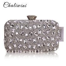 황금 크리스탈 여성 저녁 가방 클러치 다이아몬드 신부의 웨딩 박스 클러치 숙녀 금속 하드 케이스 파티 숄더 핸드백 지갑
