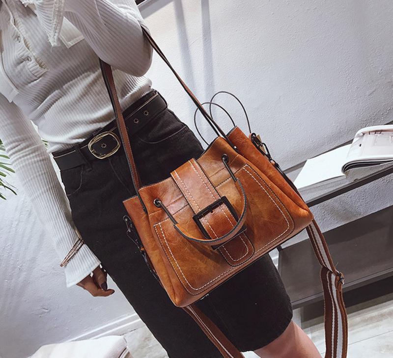 New European and American style vintage PU women handbag shoulder bag messenger bag 92