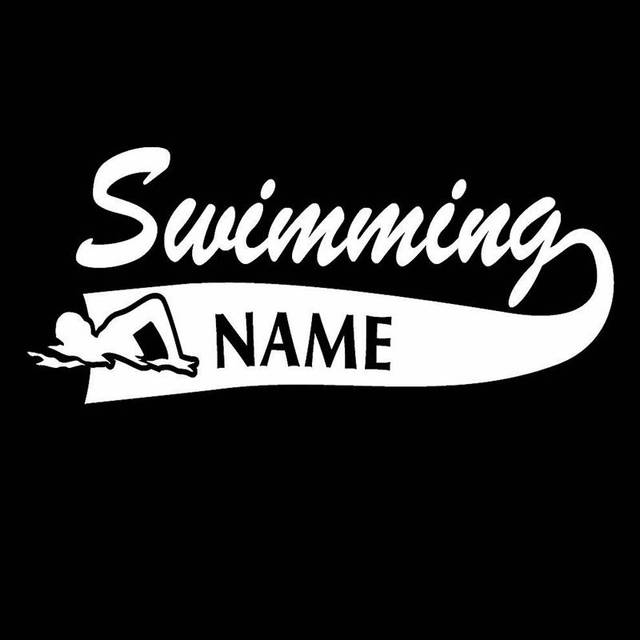 Swim sticker logo name swimmer decal swimming posters vinyl wall decals pegatina quadro parede decor mural