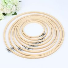 Embroidery Hoop Circle Round Bamboo Frame Art Craft DIY Cross Stitch Art Works Pictures Home Decorations Tool 13cm-34cm optional(China)