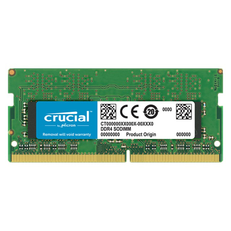 Crucial CT4G4SFS624A, 4 go, 1x4 go, DDR4, 2400 MHz, SO-DIMM 260 broches, Verde