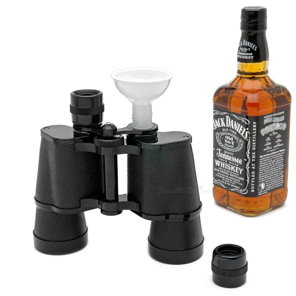 Double Face Binoculaire Flacon Voyage Bouteille D'eau Sport Verres Russe Flagon Whisky Bouteille Shot Gun Flacon Shaker Whisky Pot