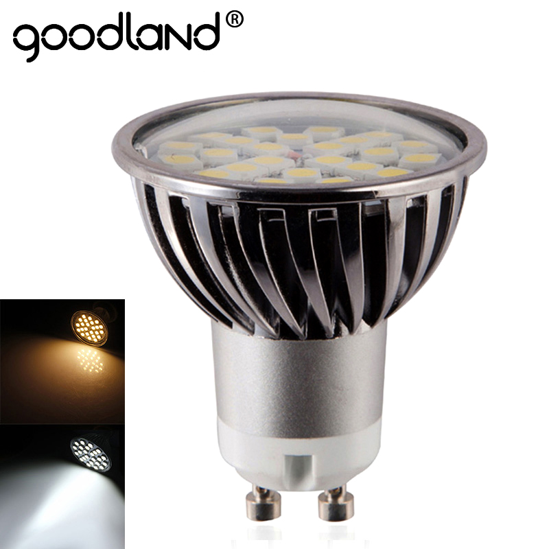 Goodland GU10 LED Lamp Dimmable LED bulb GU 10 LED Spotlight 110V 220V Aluminum 7W For Bedroom Living Room Lighting gu longzhong led