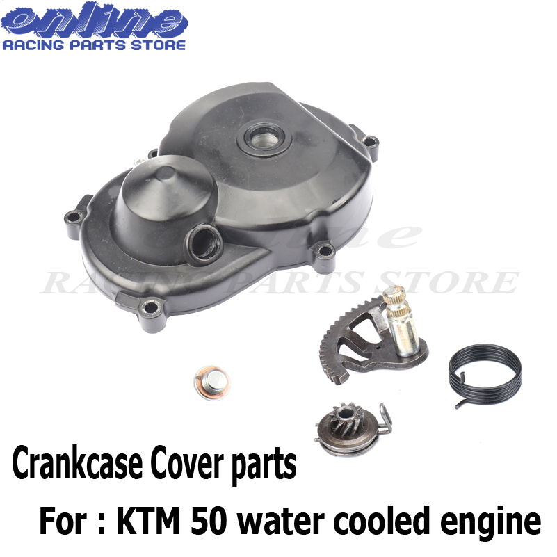 Motorcycle Crankcase Cover Right set For KTM 50 65 50CC 65CC SX Water Cooled engine SX Pro JR LC SX PRO SR Free shipping