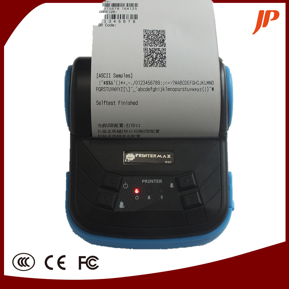 80mm Mini Wireless Bluetooth Android Portable Mobile Thermal Receipt Printer For Windows Andriod