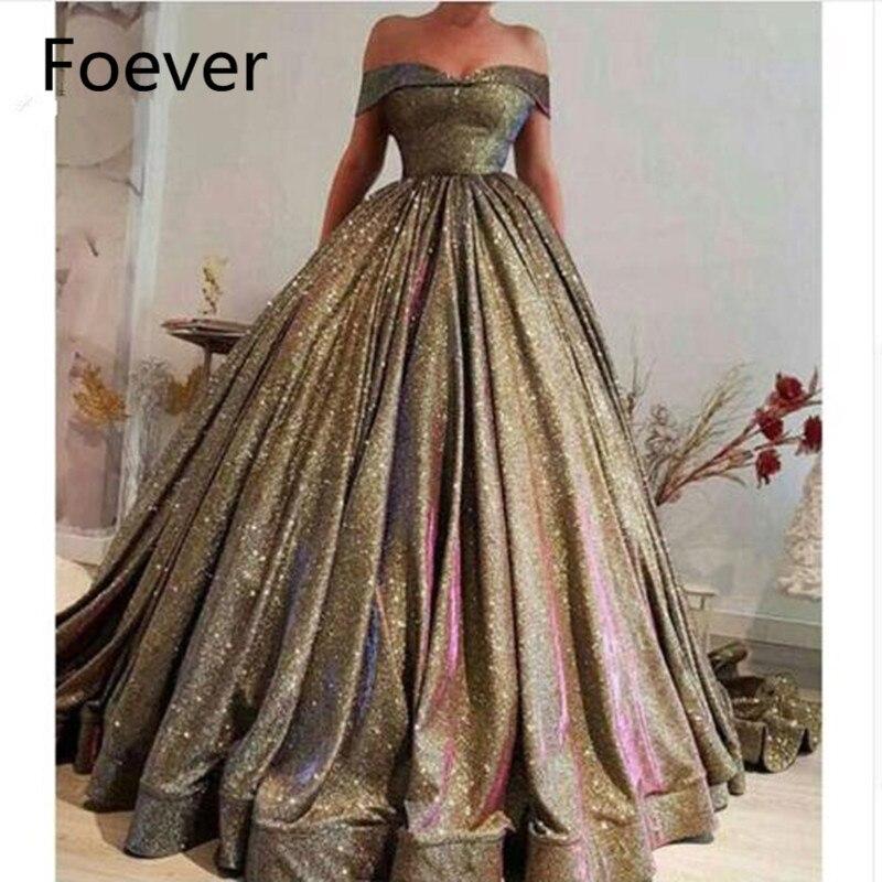 Arabe hors De l'épaule robes De soirée 2019 nouveau Vestido De Festa Robe De soirée femmes robes De soirée longue Robe De bal