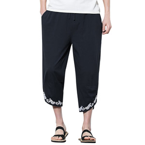 Feitong new Summer Men Pant Casual Harem Pants Jogger Pants Fitness 2019 Male Trousers Linen Loose Pant Clothes Streetwear