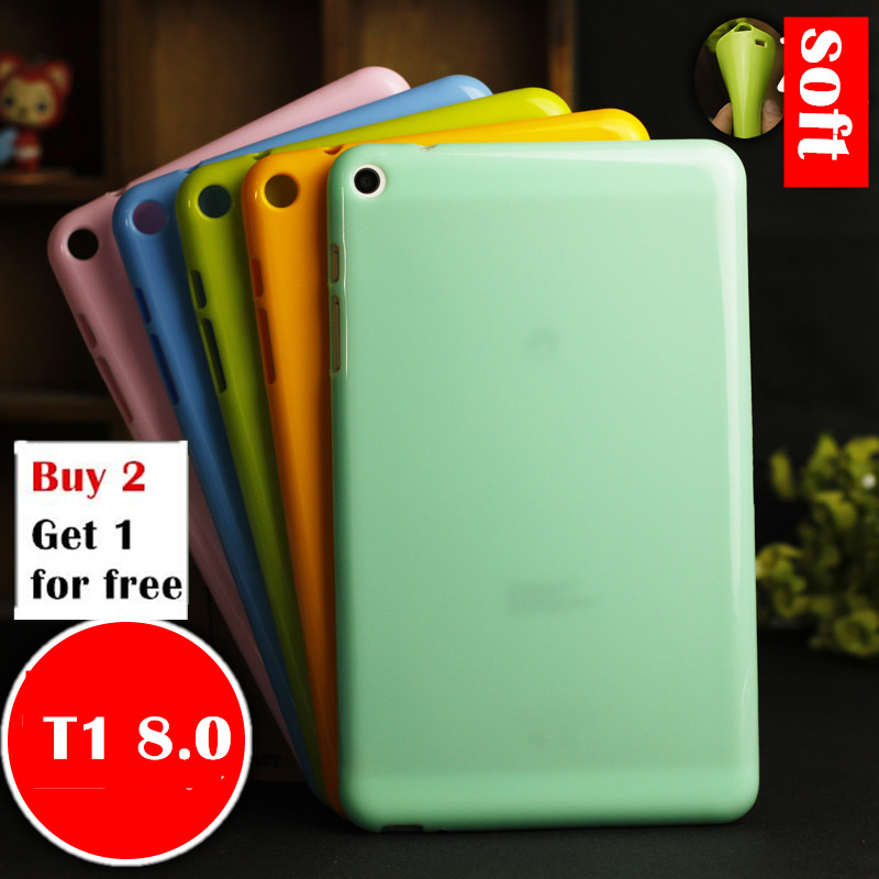 Case For Huawei Mediapad T1 8.0 S8-701U/S8-701W/T1-821W/T1-823L Tablet Case Soft Silicone TPU Back Cover Case