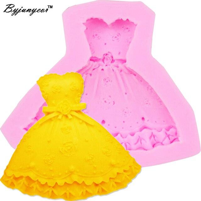 Byjunyeor M264 Heisser 3d Rock Prinzessin Kleid Form Kuchen Form