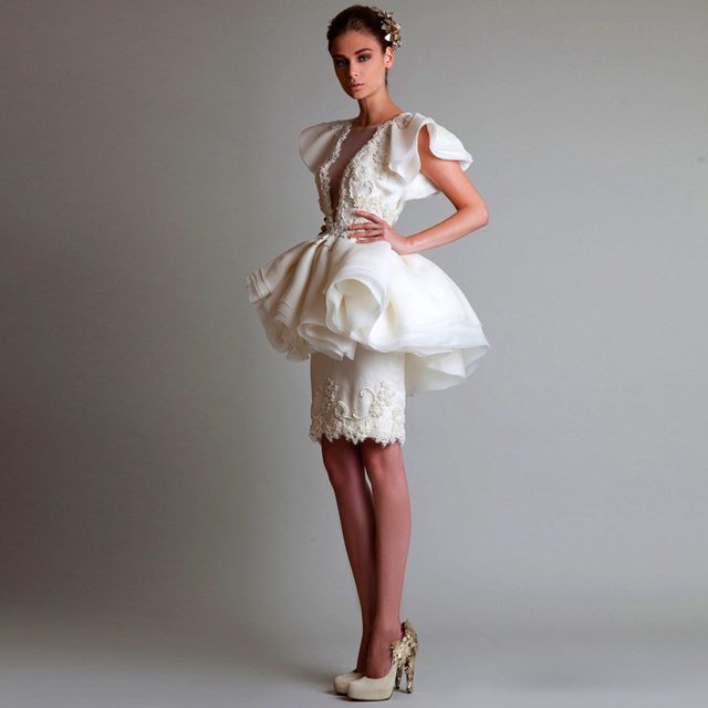 Robe de cocktail haute couture 2015