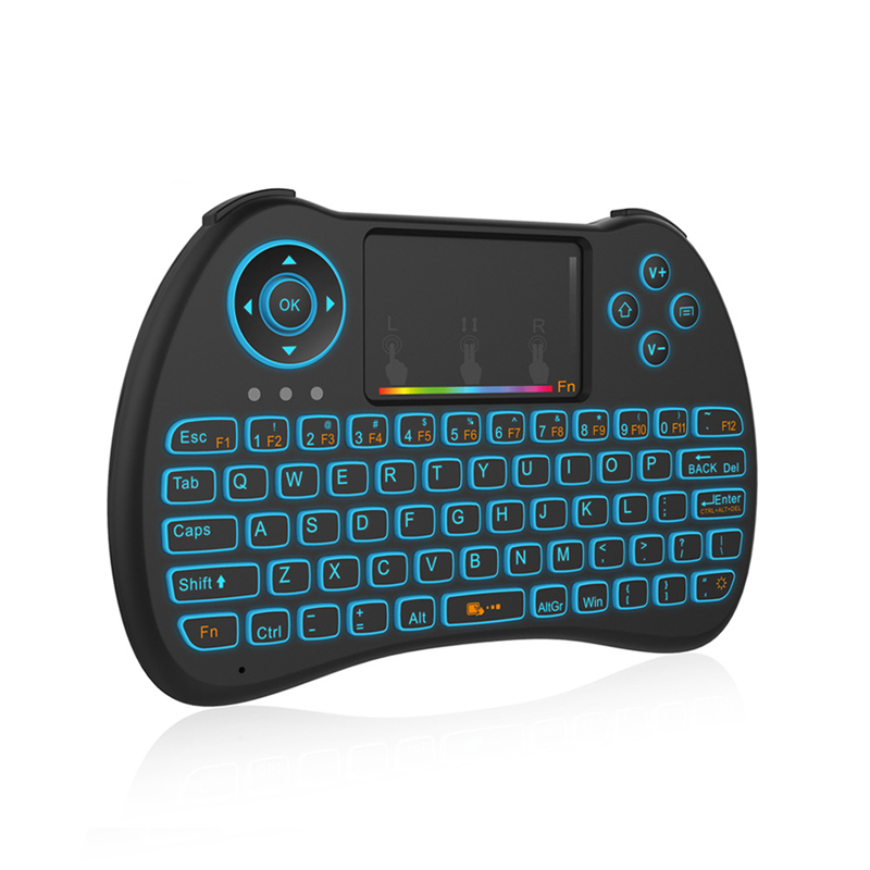 H9 Wireless Mini Keyboard 2.4G Air Mouse with 7 Colors Backlit Universal Remote Control for Android TV Box PC 10pcs Controller