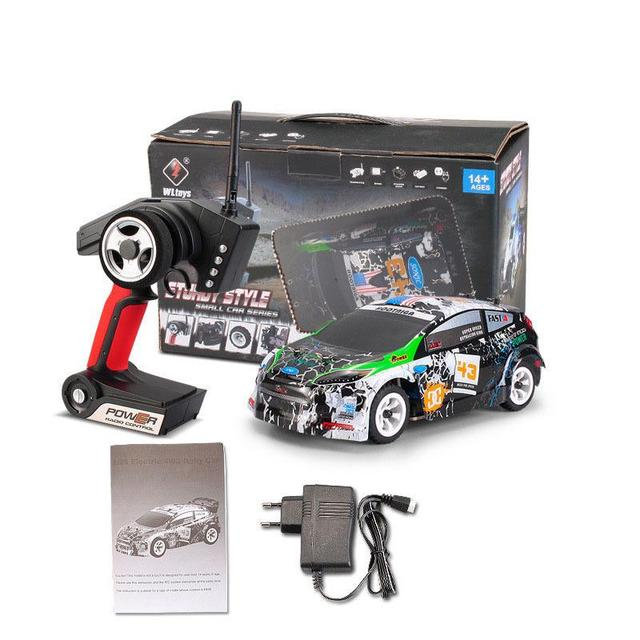 Wltoys K989 1/28 2.4G 4WD Brushed RC Remote Control Rally Car RTR with Transmitter  RC Drift Car Alloy Remote Control Car 3