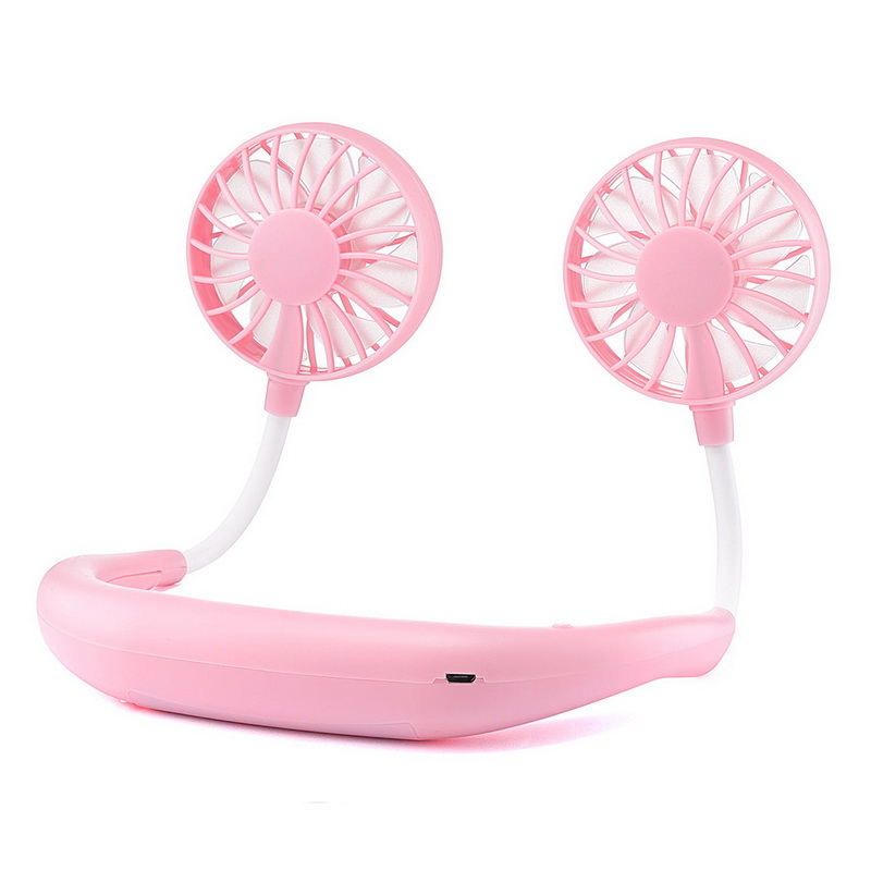 Portable Neck band Fans With 3 Wind Adjustable Speed Fans For Traveling And Office 9
