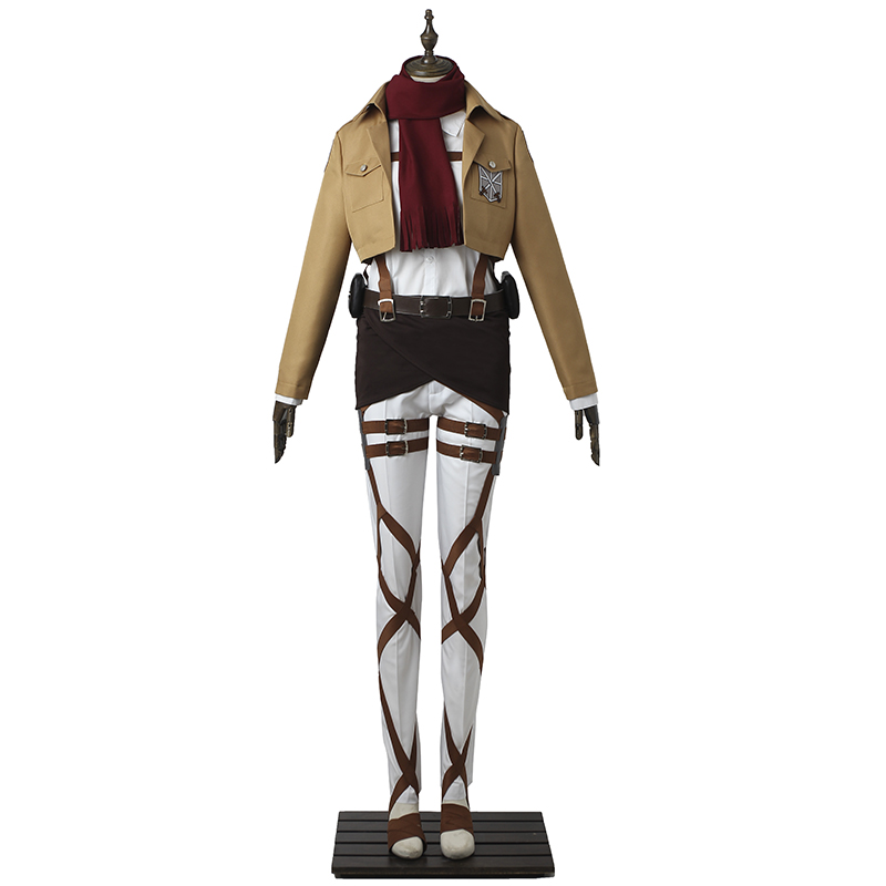 Attack on Titan Cosplay Costume Mikasa Ackerman Cosplay Anime Shingeki no Kyojin Training Corps Battle Costume Halloween Adult стоимость