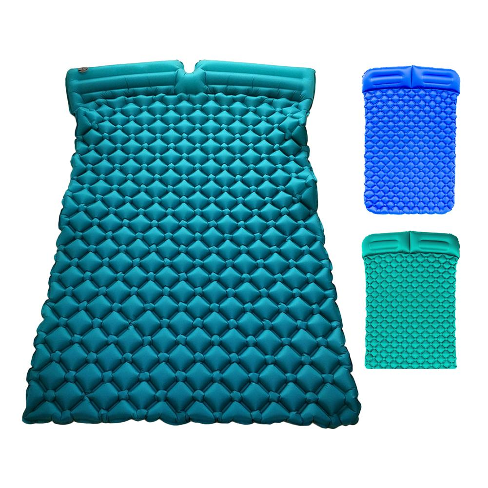Outdoor Couples Double Inflatable Cushion Ultra Light Portable Thickening Camping Sleeping Mat Tent Mat Color RandomOutdoor Couples Double Inflatable Cushion Ultra Light Portable Thickening Camping Sleeping Mat Tent Mat Color Random