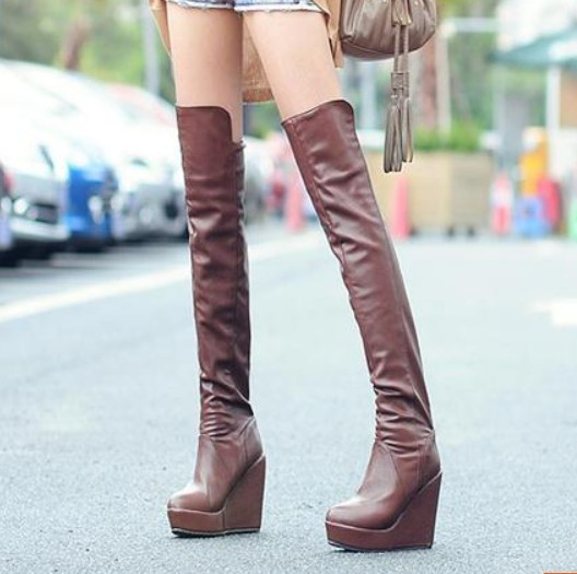 Knee-length boots female shoes repair ultra high heels platform wedges winter - Online Store 808308 store