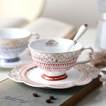 Europe ceramics coffee cup Phnom Penh Cup  saucers set With Spoon Heat-resistan Handgrip tea glass Water ware mugs Milk